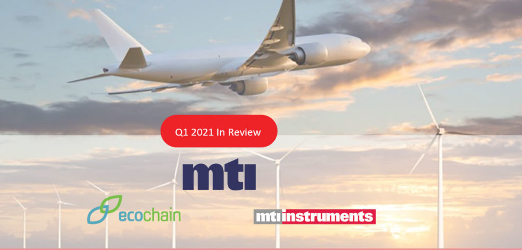 MTI Q1 Financial Update Airplane and Wind Turbines
